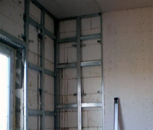 Каркас для гипсокартона на стену – 2 варианта конструкций и инструкция по их реализации