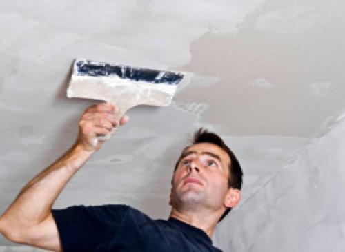Чем покрасить потолок из гипсокартона. Подготовка основания для покраски