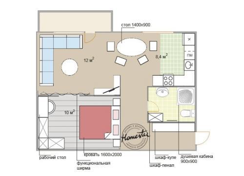 Ремонт в однокомнатной сталинке. Дизайн однокомнатной квартиры-сталинки: 4 планировки
