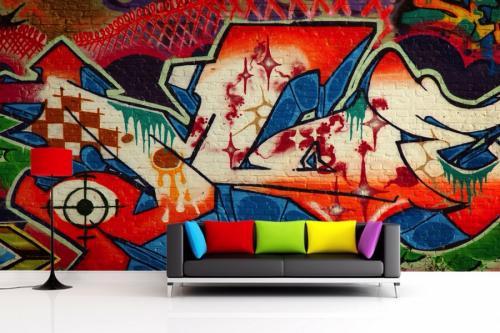 Стена над диваном декор. Акцентная отделка