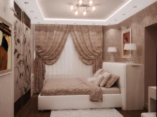 3 на 4 комната. Дизайн спальни 9 кв м. Цвет и дизайн.