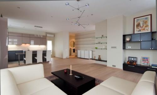 Как совместить гостиную и кухню. Использование цвета в интерьере современной кухни-гостиной