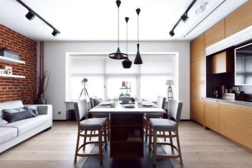 Как обставить 1 комнатную квартиру 33 кв.м. Лофт, который поселился на 33 м