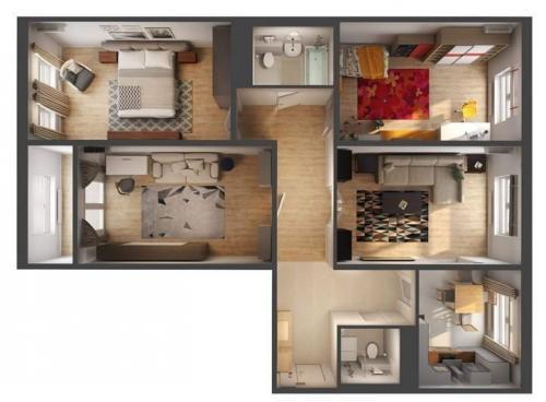 Планировка 4 х комнатной квартиры. Основные особенности, нюансы оформления дизайна в 4-комнатной квартире панельного дома