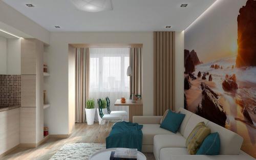 Ремонт для однокомнатной квартиры. Советы по выбору дизайна однокомнатной квартиры