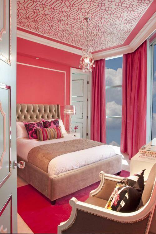 С чем сочетается розовый цвет в интерьере. Розовый в составе разных цветовых решений помещения