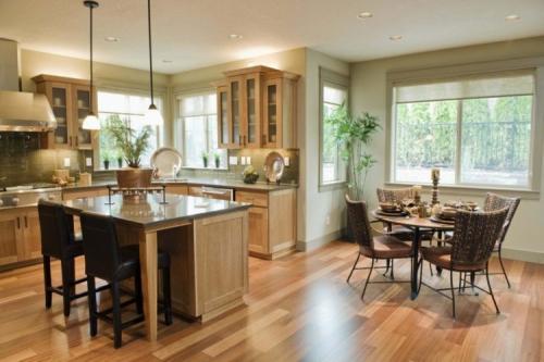 Гостиная кухня в частном доме. Планировка комнаты в коттедже или частном доме