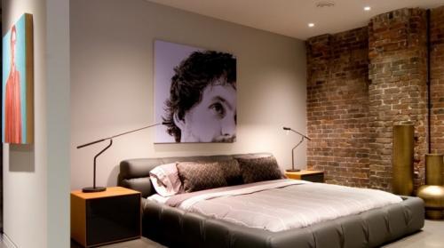 Кирпичная стена в спальне. Кирпичные стены в спальне – 50 восхитительных и уютных интерьеров