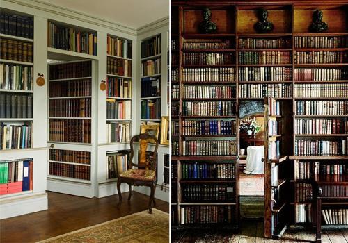 Секретные комнаты.  Книжный шкаф