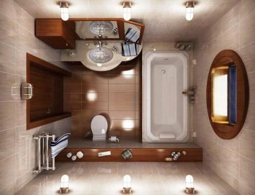 Дизайн ванной комнаты хай тек модерн. Особенности оформления маленькой ванной