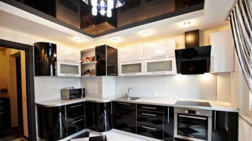 Дизайн кухни с коробом. Планировка и дизайн кухни с вентиляционным коробом в углу