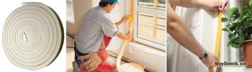Герметик для окон на зиму.  Утепление деревянных окон на зиму изнутри