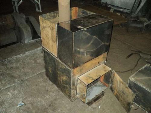 Чертежи печи для бани из металла